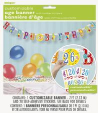Customisable Happy birthday Hinged Banner